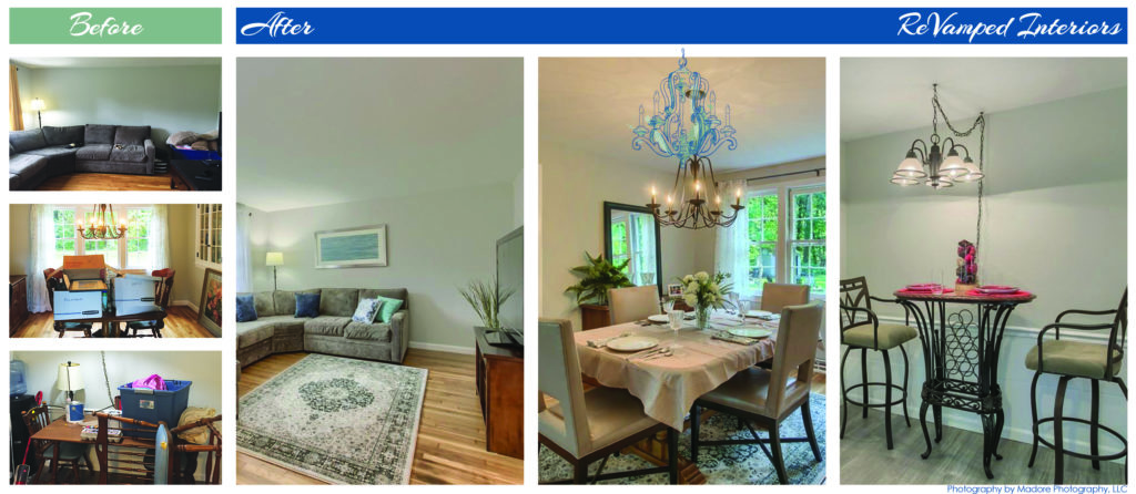 Occupied Home Staging in Chelmsford, MA